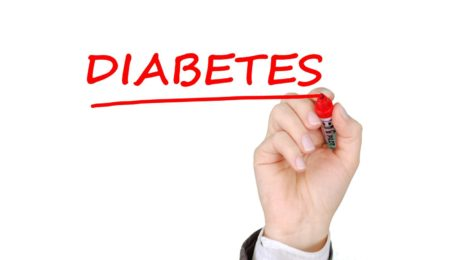 Diabetes being Written with a Red Marker