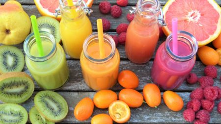 A Variety of Fresh Fruit Juices