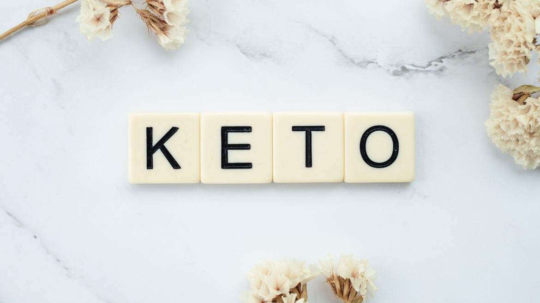 "Scrabble Tiles Used to Spell ""Keto"""
