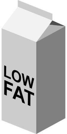 Carton of Low Fat Milk
