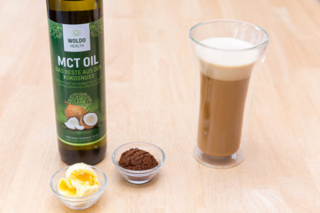 MCT oil is a supplement and is commonly added to smoothies, salad dressings, and bulletproof coffee