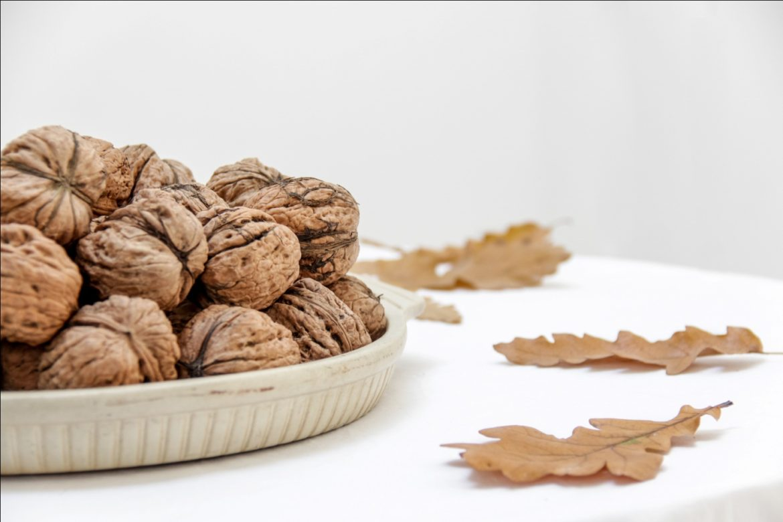 A Tray Of Walnuts