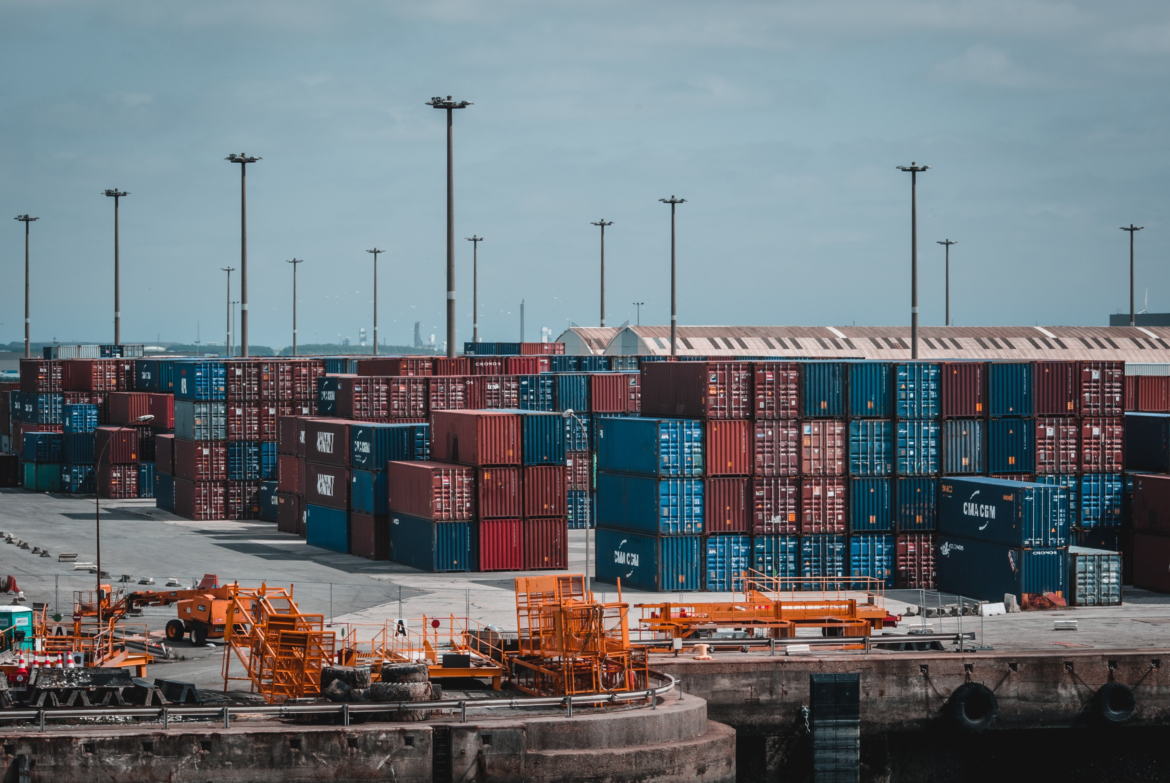 A Large Number of Cargo Boxes at a Port