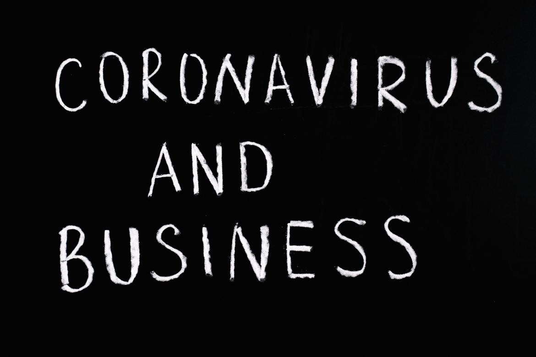 "A Board Saying ""Coronavirus And Business"""