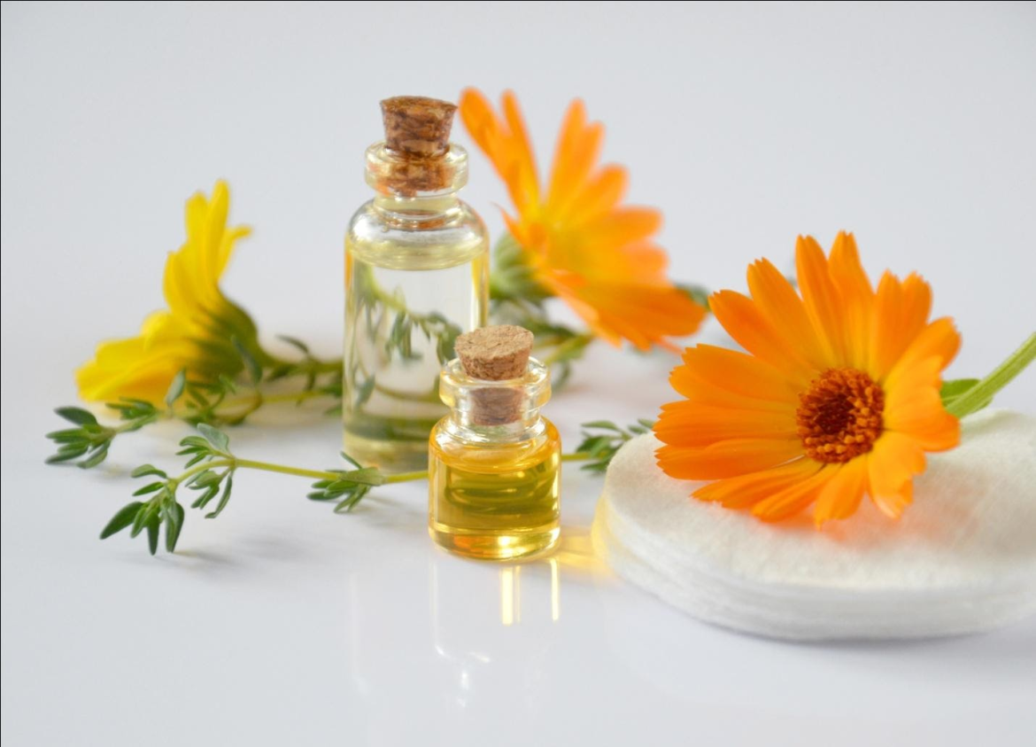 Essential Oils and Sunflowers