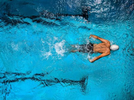 A Person Swimming in the Pool