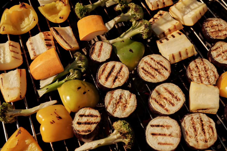 Vegetables Being Grilled